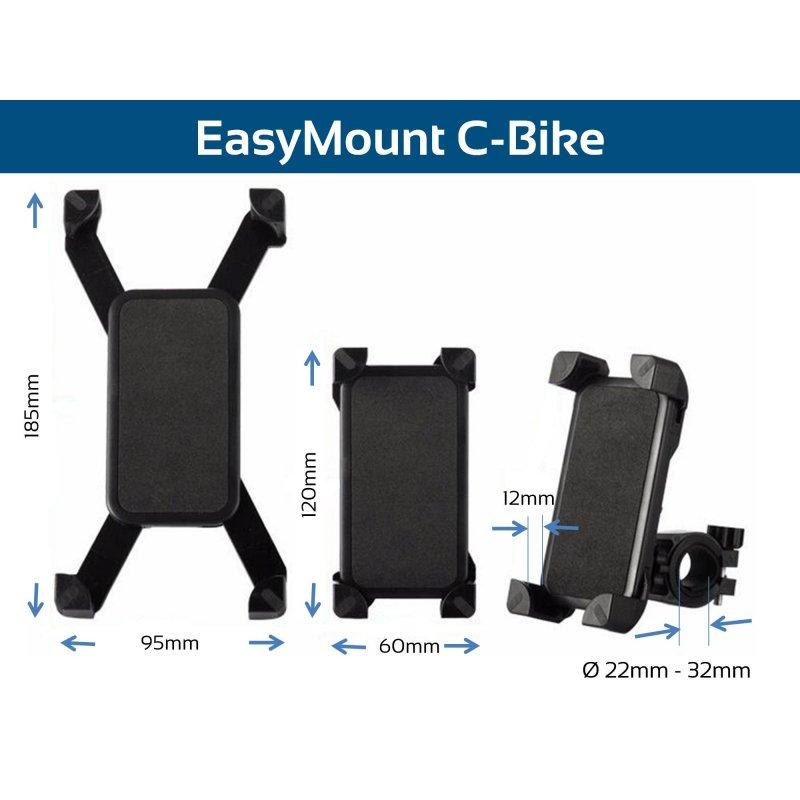 EasyMount C Bike Fahrrad Handyhalterung, Smartphone